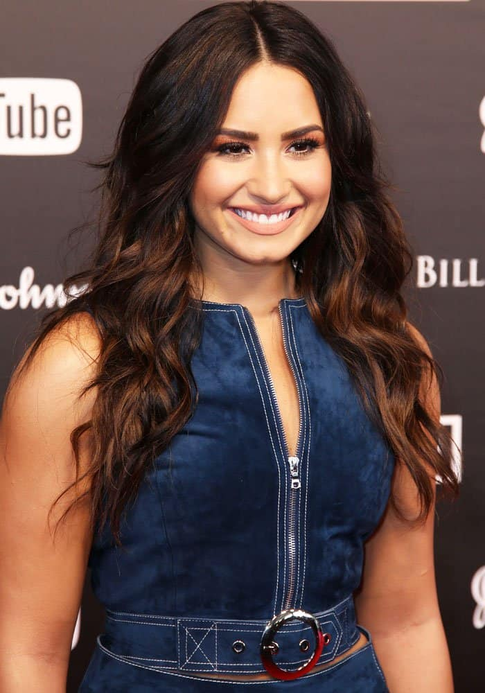 Demi Lovato at theGlobal Citizen Festival at Barclaycard Arena, Hamburg in Germany on July 7, 2017