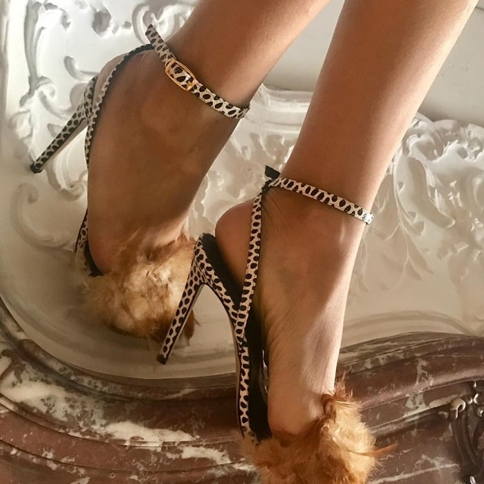 Lena Erziak feather shoes