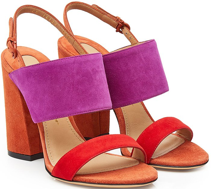 Salvatore Ferragamo Elba color block sandals