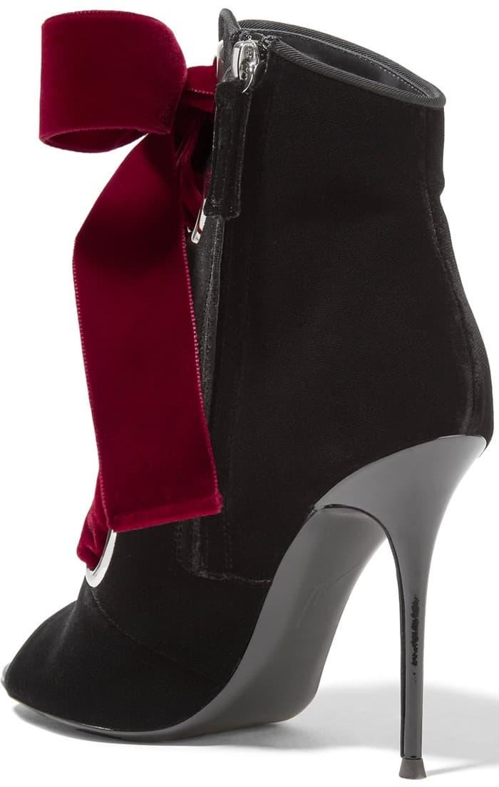 Giuseppe Zanotti Lace-up velvet ankle boots