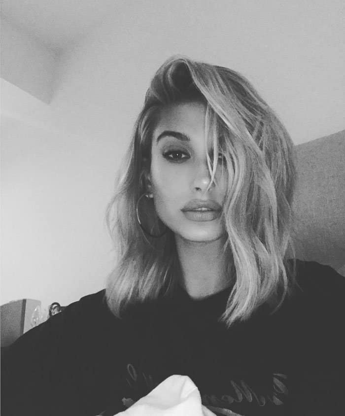 Hailey takes a selfie of her post-party look