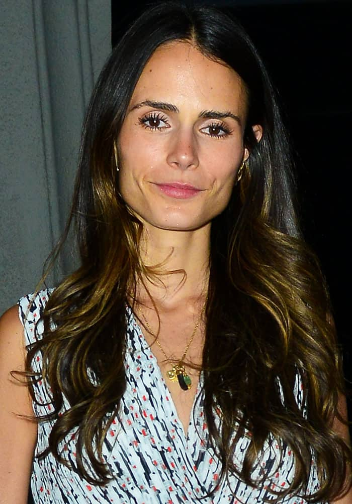 Jordana Brewster out for dinner at Craig's restaurant in Los Angeles on July 8, 2017