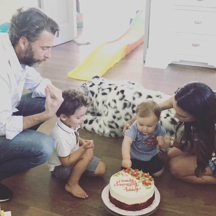 Jordana celebrates her younger son Rowan's birthday