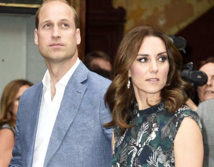 Kate arrived at the ball house with her dashing husband, Prince William