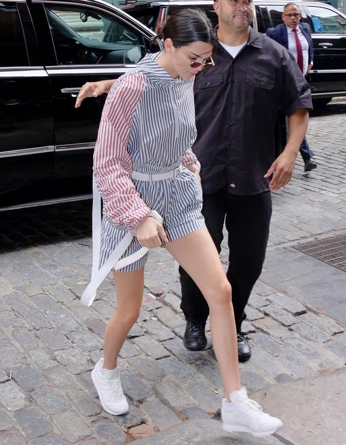 Kendall Jenner leaving her hotel in New York City on July 28, 2017