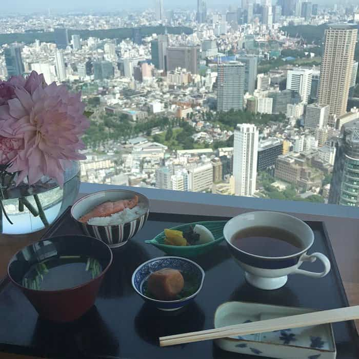 "Miranda uploads a photo of her breakfast tray with the caption ""Good morning Tokyo"""