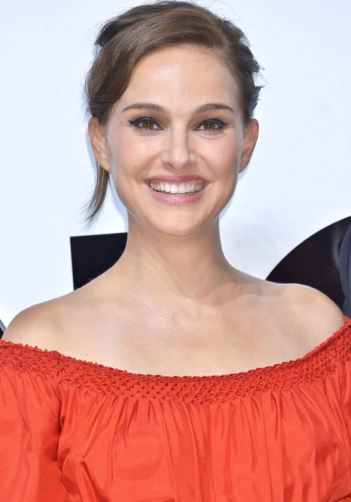 Natalie Portman attends a photocall for new perfume Dior for Love in Tokyo, Japan on July 19, 2017