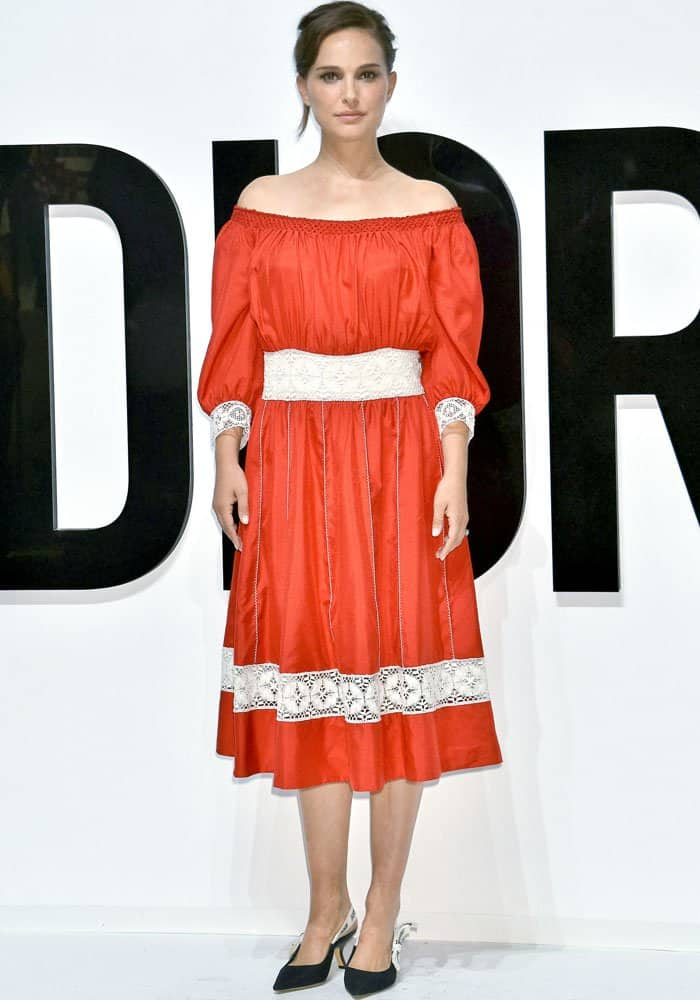 The ambassador showed up in head-to-toe Christian Dior pieces