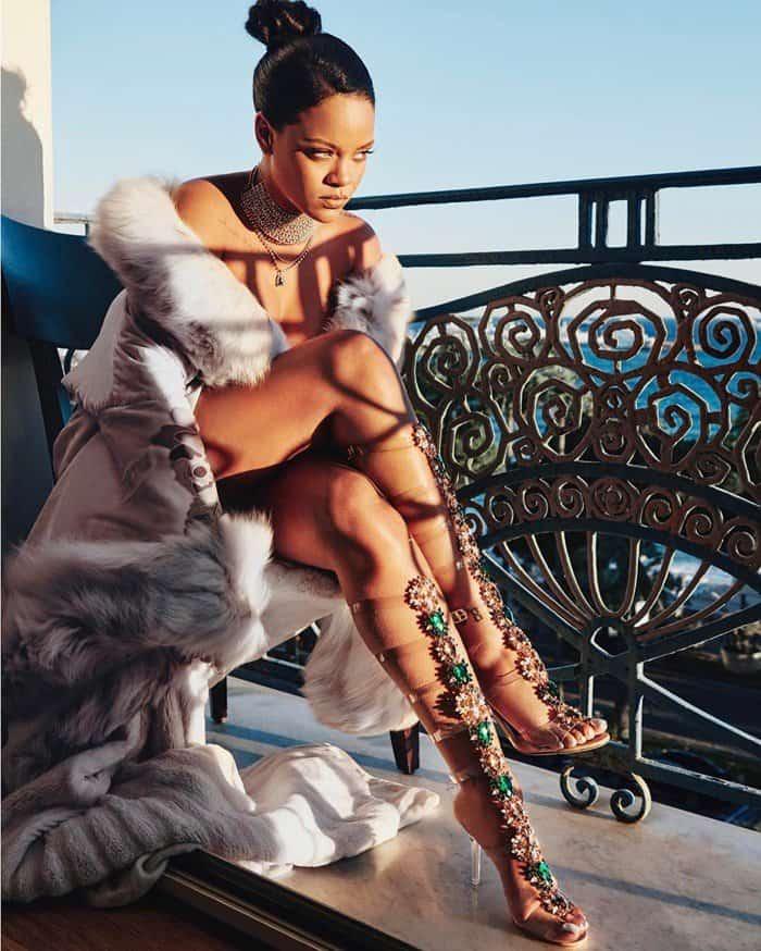 Rihanna wearing Poison Ivy heels