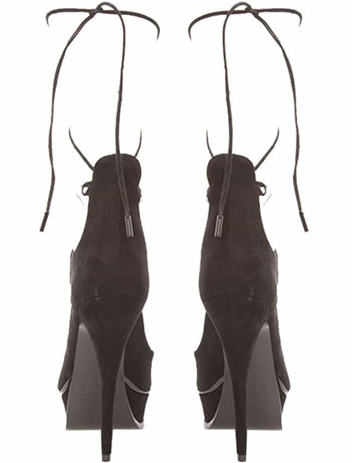 Saint Laurent Lace Up Sandals