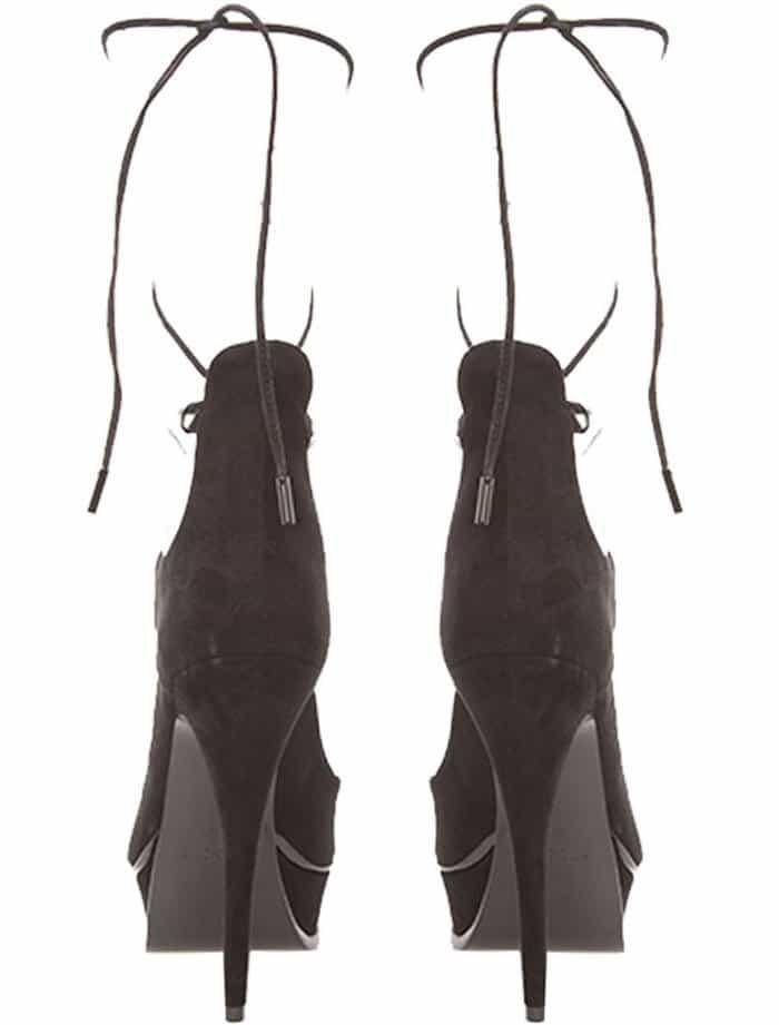 Saint Laurent Lace Up Sandals