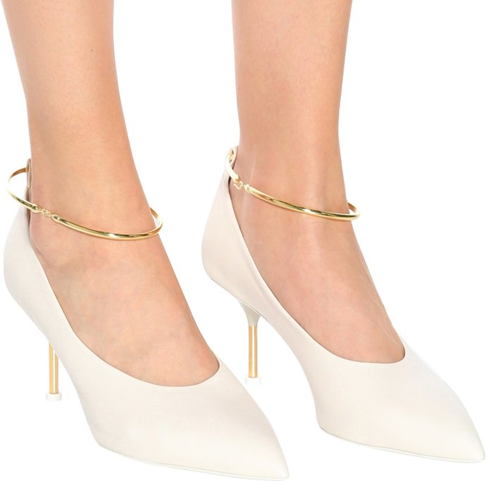 Smooth White Leather Jil Sander Pumps