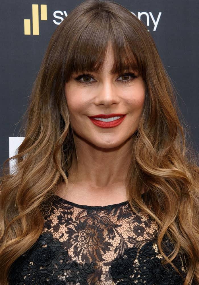 "Sofia Vergara hosts ""The Emoji Movie"" in New York on July 23, 2017"
