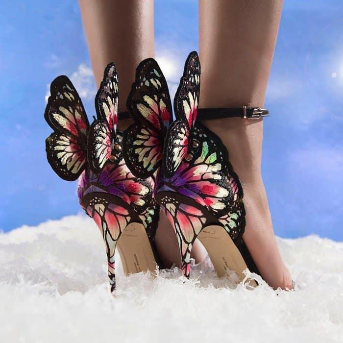 Sophia WebsterChiara Embroidered Butterfly Sandal