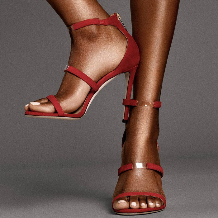 Yara Shahidi S Feet In Tamara Mellon Reverse Frontline