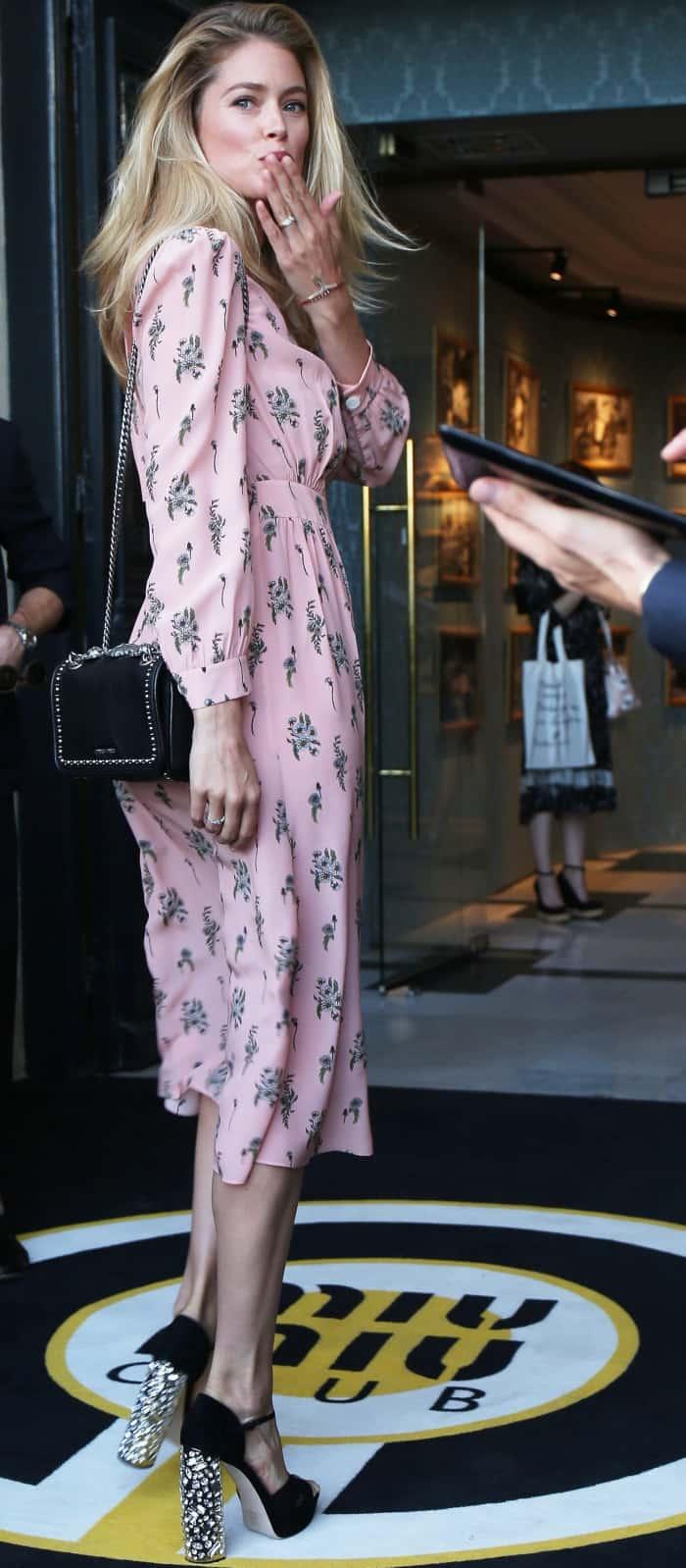 Doutzen Kroes attending the Miu Miu Cruise 2018 fashion show during Paris Haute Couture Fashion Week