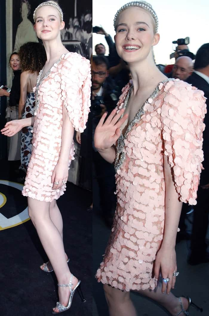 Elle Fanning attending the Miu Miu Cruise 2018 fashion show during Paris Haute Couture Fashion Week