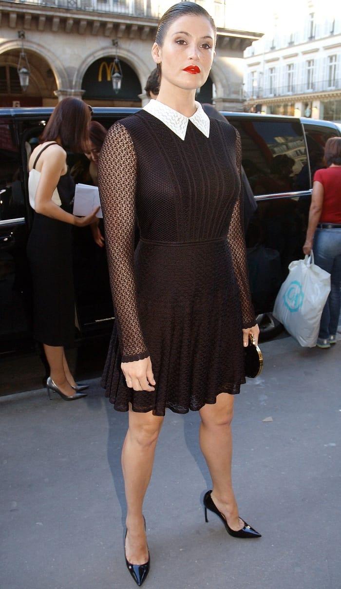 """Gemma Arterton attending the """"Christian Dior, Couturier Du Reve"""" exhibition launch"""