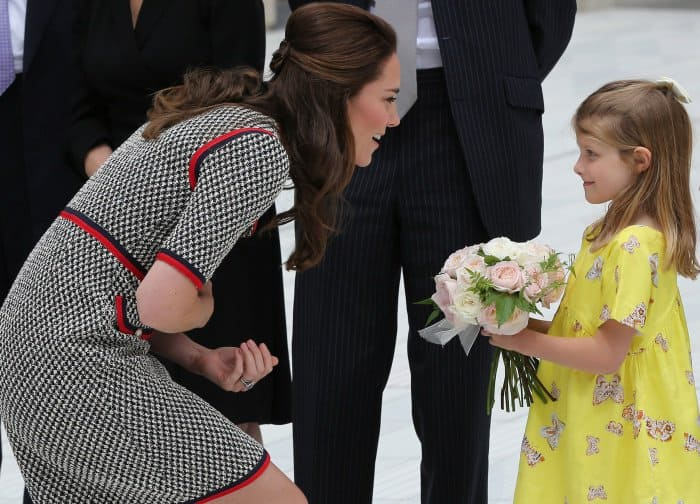 Kate Middleton with Lydia Hunt at the Victoria and Albert Museum
