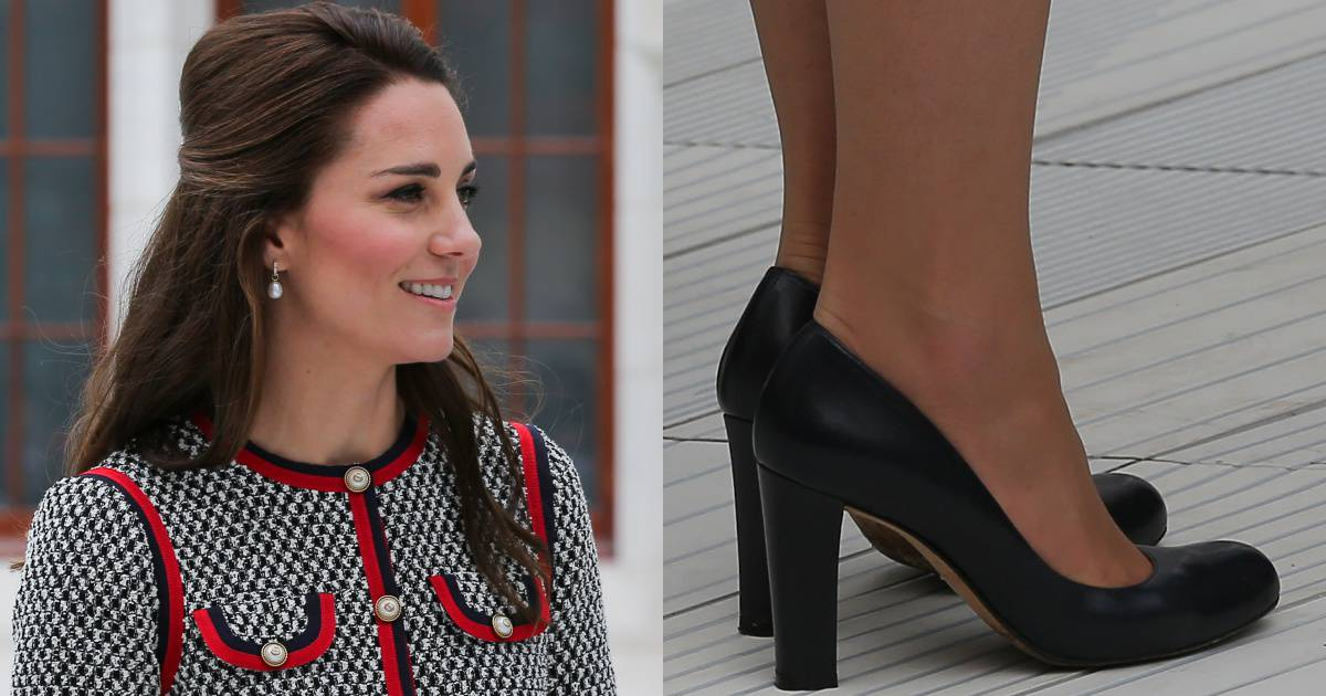 ef65c593eef Kate Middleton Re-Wears L.K. Bennett  Art  Pumps for Appearance at Victoria  and Albert Museum