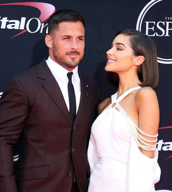 Olivia Culpo's best accessory that night was Daniel James Amendola, an American football wide receiver for the Miami Dolphins of the National Football League
