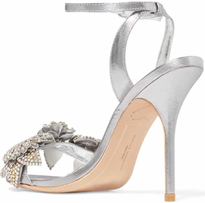 "Sophia Webster ""Lilico"" embellished lamé sandals"