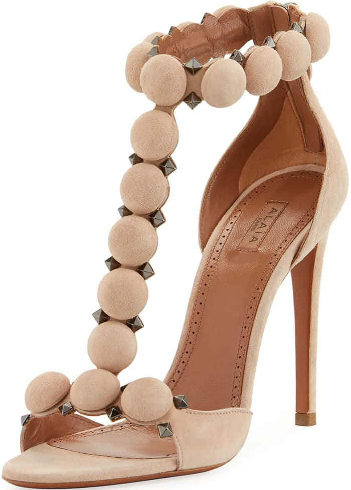 Alaïa studded suede sandals