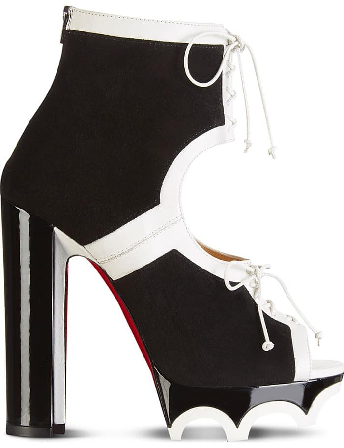 Christian Louboutin 'Lolacrampon' Booties in Black