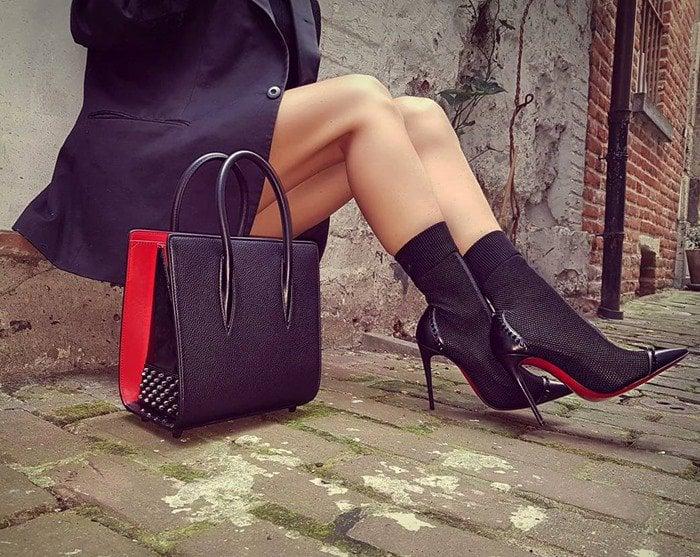 98574344079 Dovi Dova Sock/Stiletto Hybrid Booties by Christian Louboutin