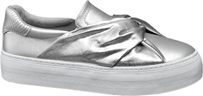 Deichmann Star Collection metallic bow pump