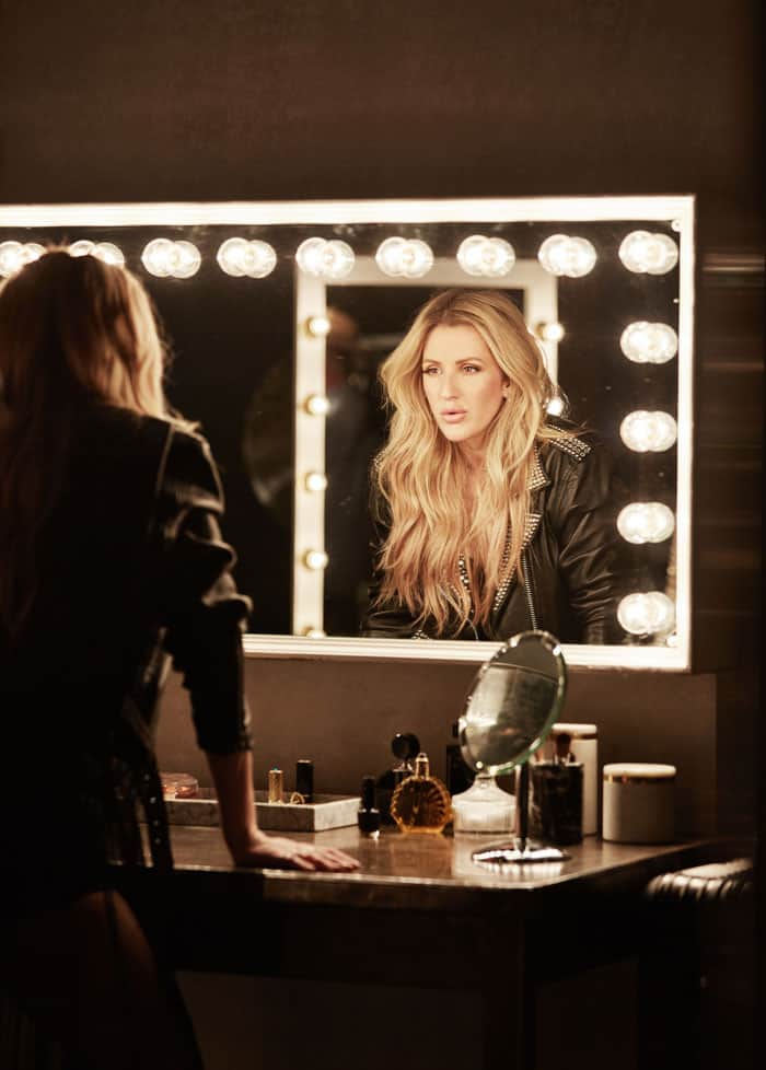 Ellie Goulding released behind-the-scenes photos of her video shoot which showcased her latest designs as well