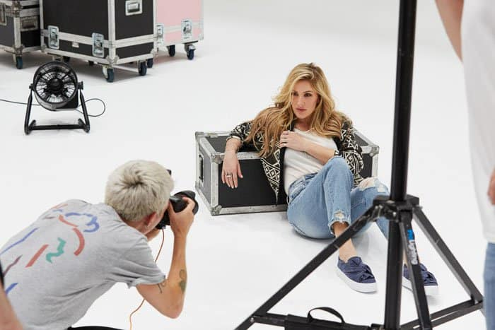 Ellie Goulding did an official photoshoot for the new collection, as well as a video shoot