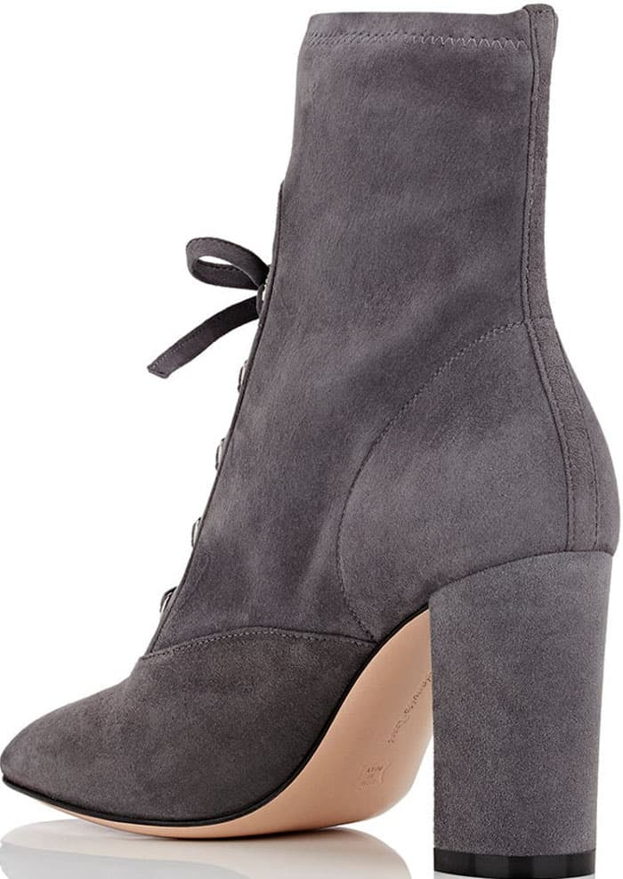 Gianvito Rossi suede lace-up ankle boots