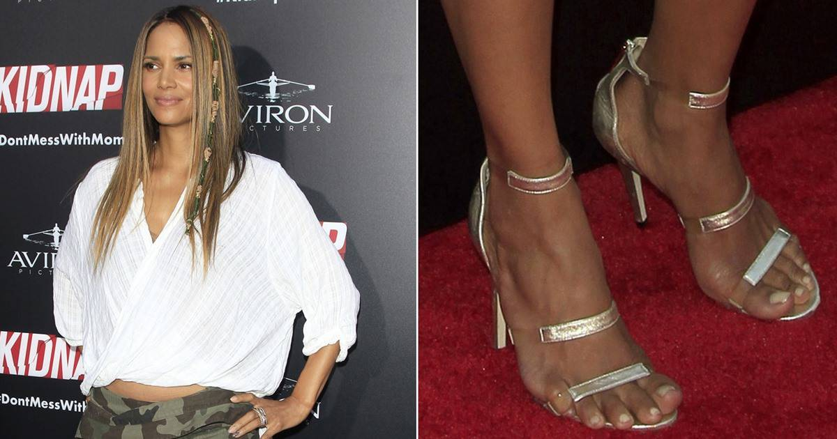 Halle Berry In Horrendous Skirt With Tamara Mellon