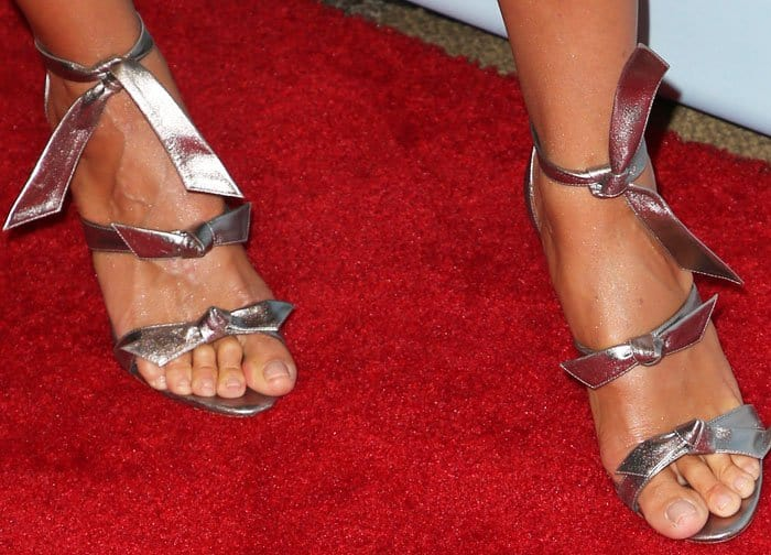 "Heidi combined sexy and sweet with a pair of Alexandre Birman ""Mary"" sandals"