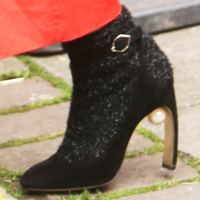 """The Nicholas Kirkwood """"Lola"""" boots fuses an ankle strap pump with glitter """"socks"""""""