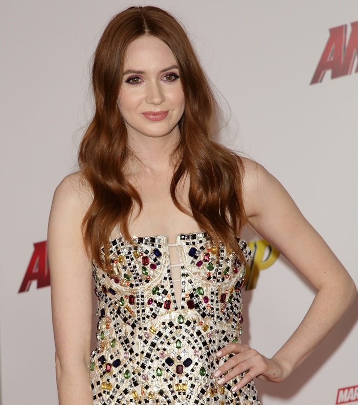 Karen Gillan sparkled at the premiere of Disney and Marvel's 'Ant-Man and the Wasp' in Los Angeles on June 25, 2018
