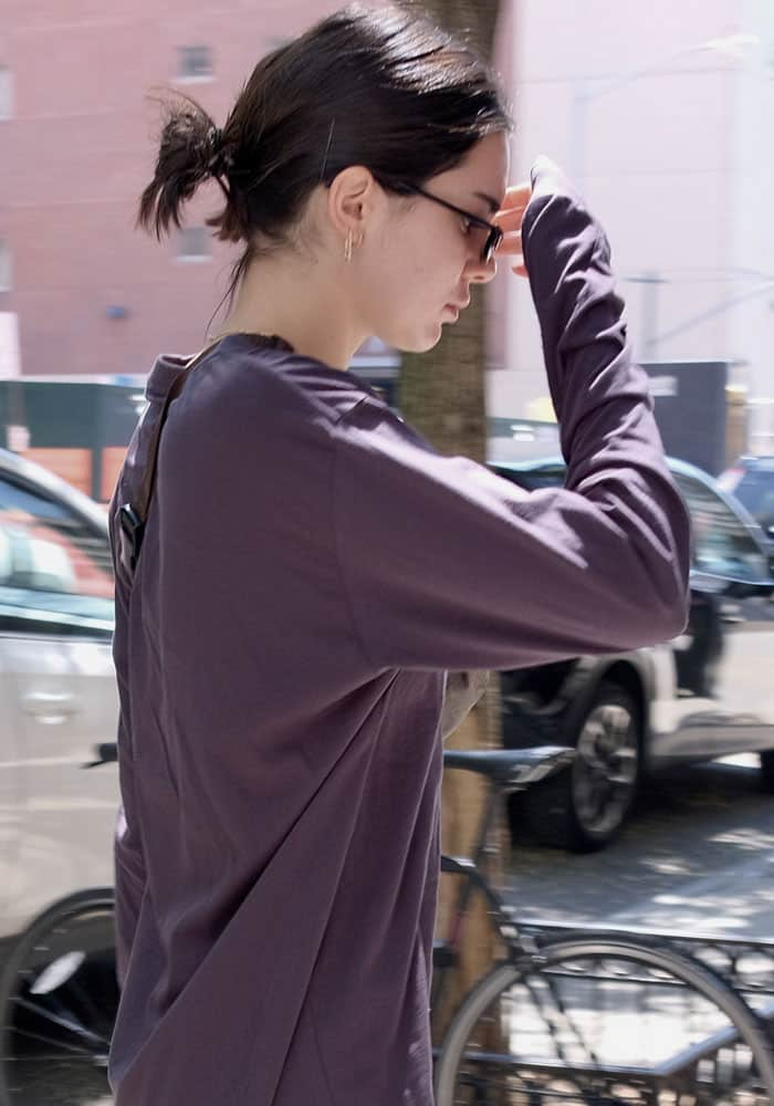 Kendall shies away from the cameras as she emerged from Gotham Gym in New York on August 1, 2017