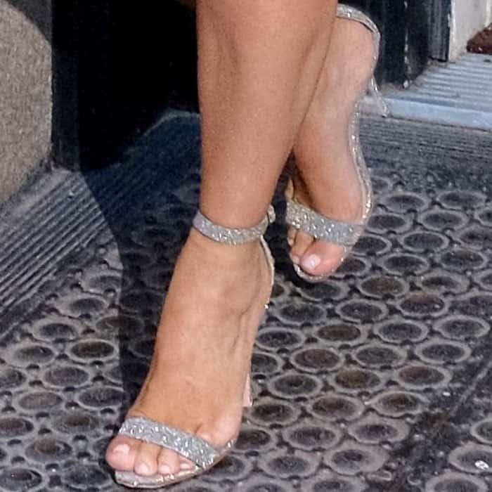 Kim Kardashian in Manolo Blahnik Chaos Sandals