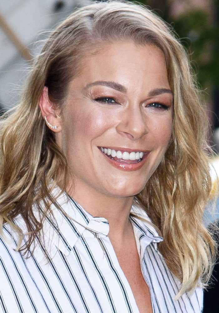 LeAnn Rimes spotted outside AOL Build in New York on August 18, 2017