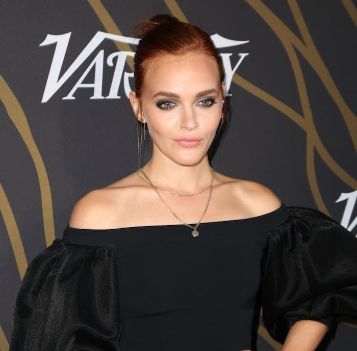 Madeline Brewer's ginger locks were tied up in a high bun