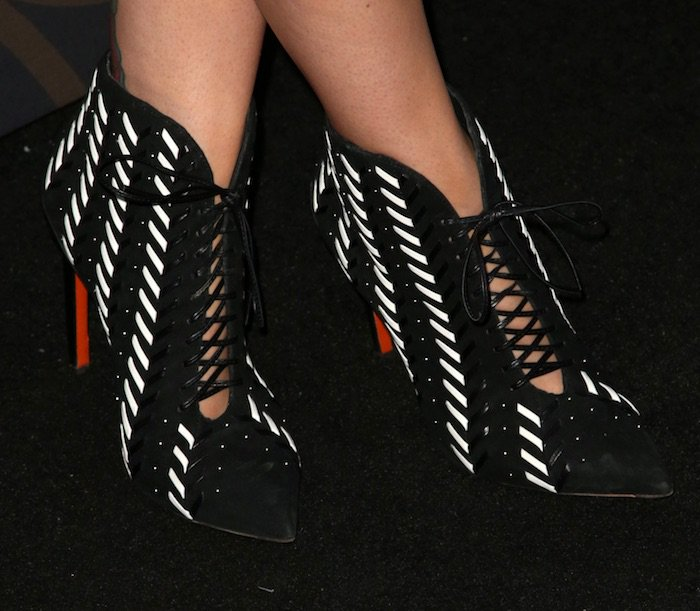 Schutz Over The Knee Sandals Bella Thorne Wears Thigh High
