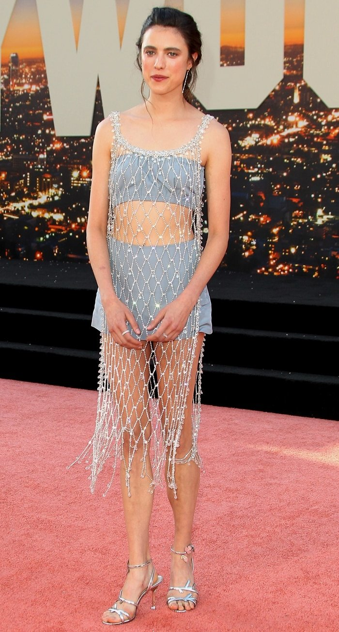 Margaret Qualley paraded her legs for the Once Upon a Time in Hollywood premiere