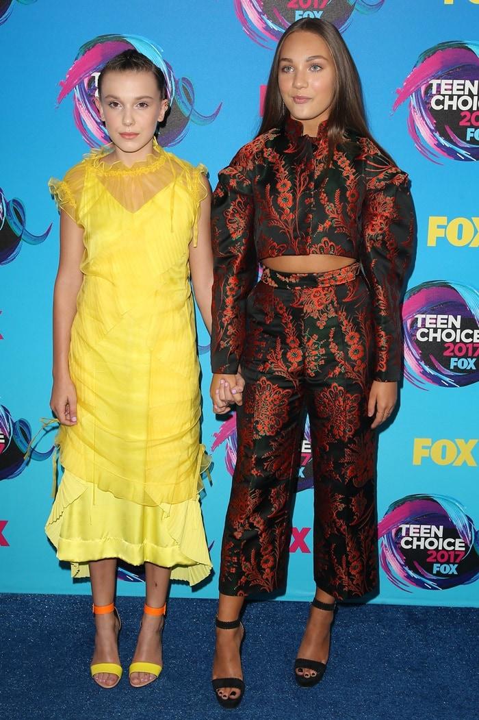 Millie Bobby Brown and Maddie Ziegler