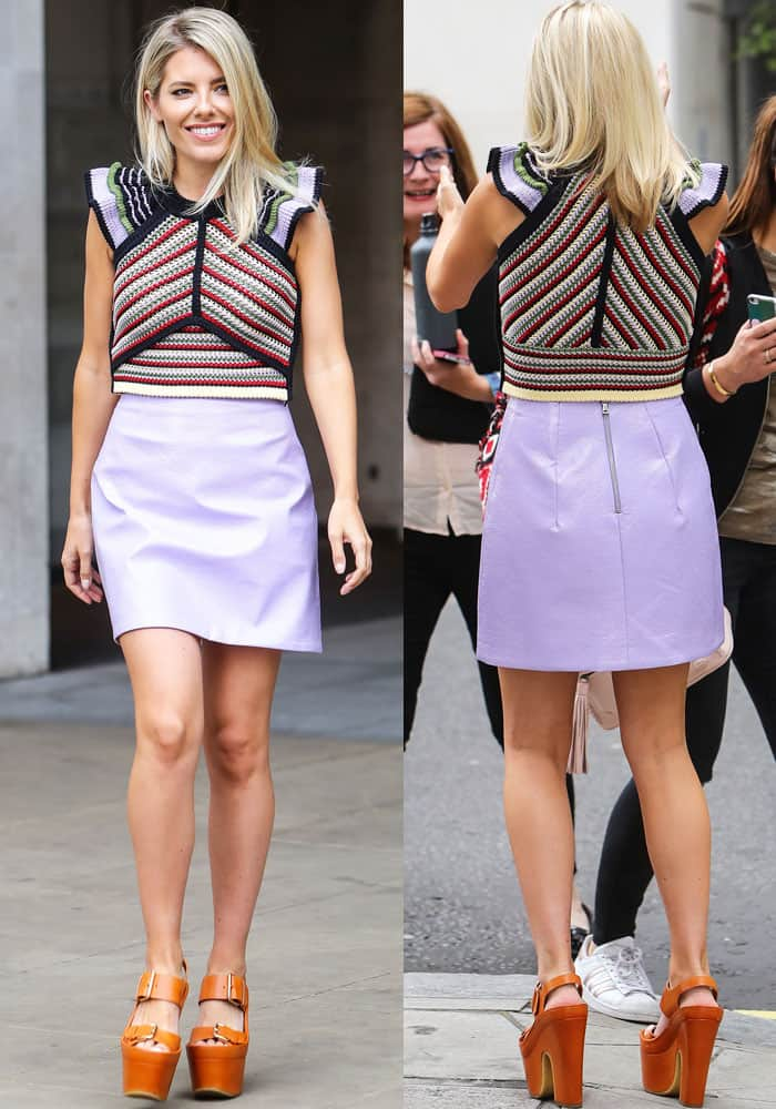 Mollie shows off a crochet top from Alexa Chung's first clothing collection