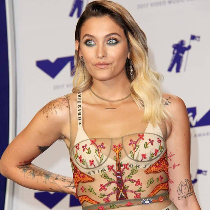 Paris Jackson rocking an underwear-flashing Christian Dior number at the 2017 MTV Video Music Awards held at The Forum on Sunday in Inglewood, California, on August 27, 2017