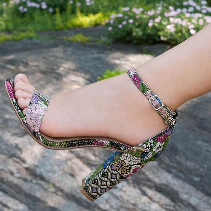 b2b79a85c8c47 Carrson Block Heel Sandals by Steve Madden With Ankle Strap