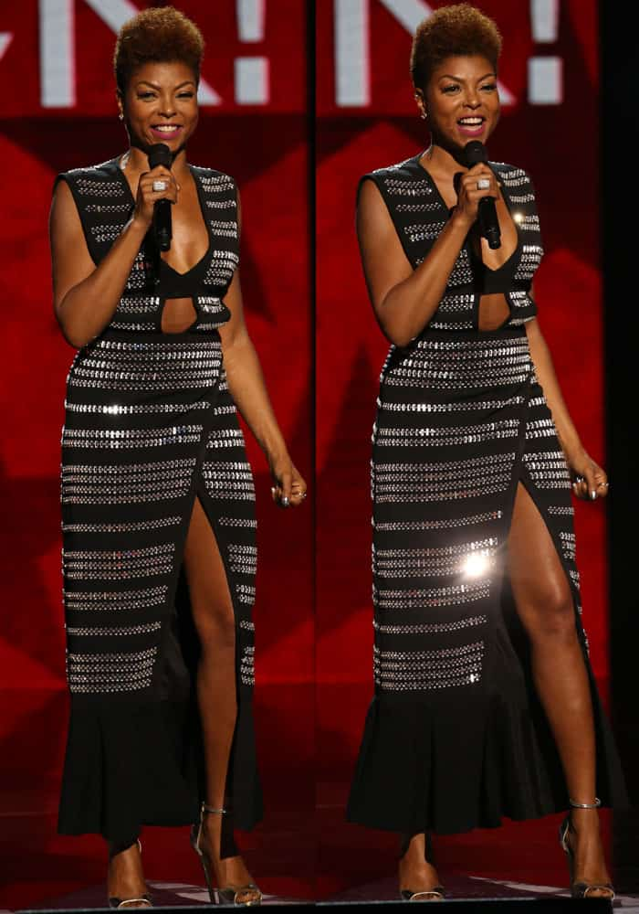 Taraji slipped into her second David Koma look while hosting at the awards