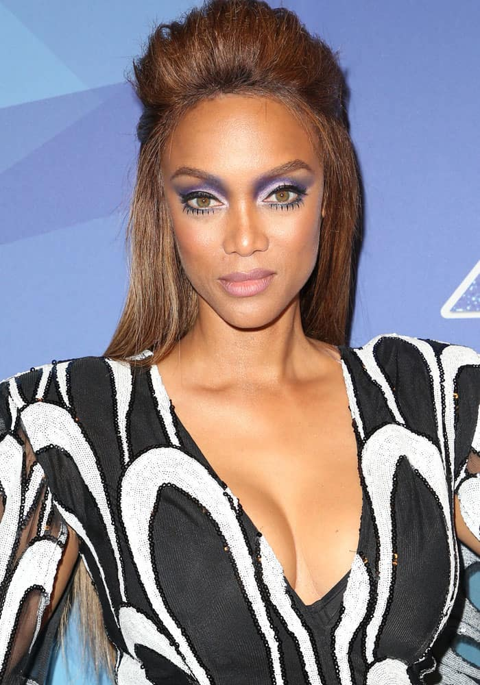 "Tyra Banks at the ""America's Got Talent"" season 12 quarter final live show in Los Angeles on August 22, 2017"