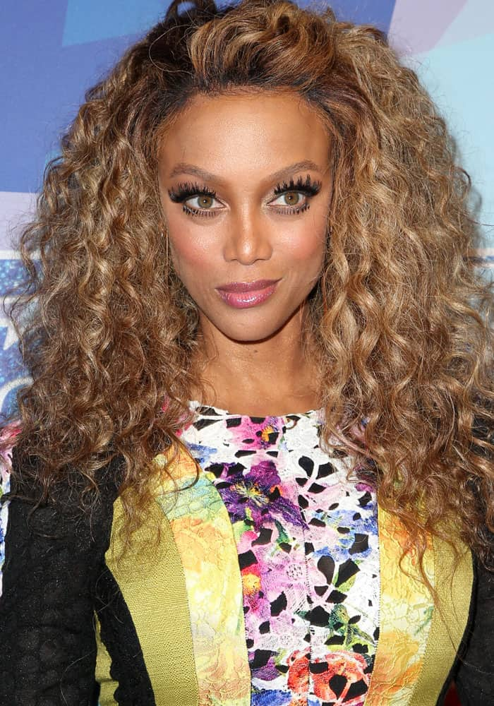 """Tyra Banks at the premiere of NBC's """"America's Got Talent"""" Season 12 in Hollywood on August 16, 2017"""